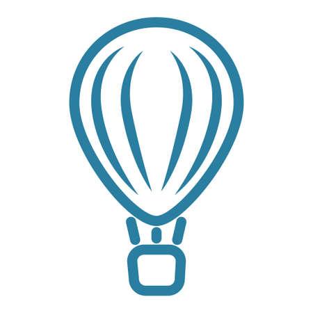 Air balloon transport icon. Aerostat icon design vector