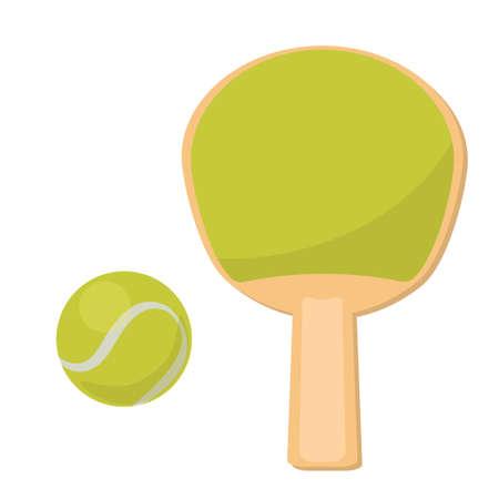 Tennis ball icon racket illustration vector design