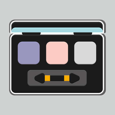 Makeup products, eyeshadow icon vector design illustration