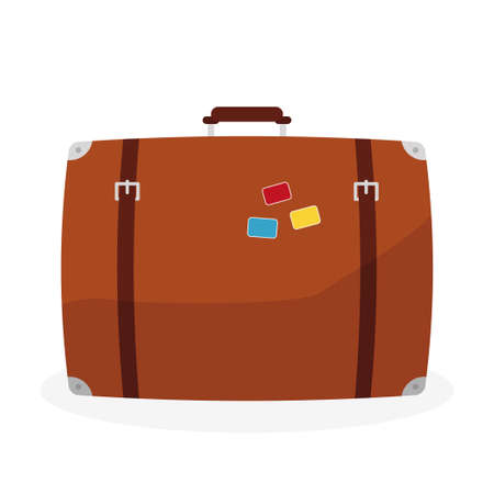 Retro suitcase and travel icon vector illustration design