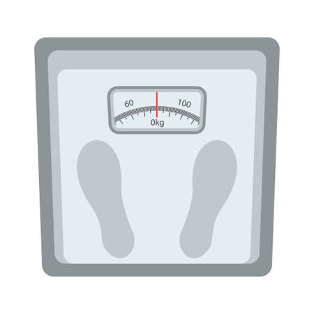 Weight scale icon vector illustration design isolated Çizim