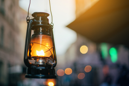 Old lamps in city streets