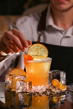 Man made bartender
