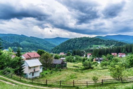 HDR views during uphill Makovytsya Ukraine Yaremche The height of the mountain 984 meters