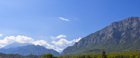 View on a rocky mountains - Kemer, Turkey.