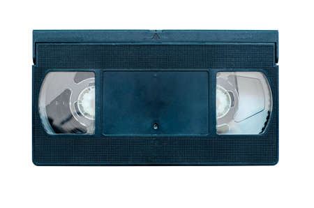 Videotape isolated on white background. Film cassette for a video player