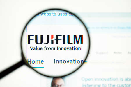 Los Angeles, California, USA - May 31 2020 : Official website of Fujifilm. Homepage of firm