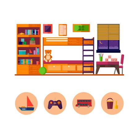 interior room: Children room interior.