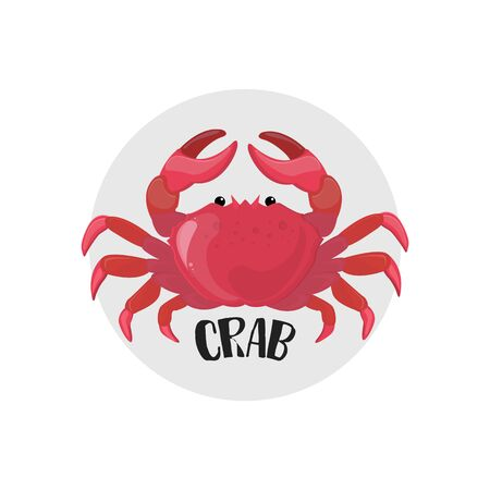 Crab icon. Vector illustration. Seafood. infographic element. Illustration
