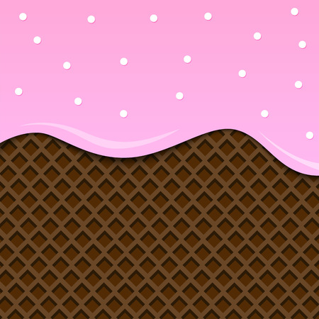 Ice cream background. Vector. Pink Chocolate. Illustration
