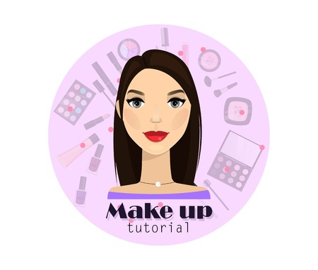 Make up tutorial for web, banner design element