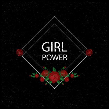 Girl power Vector illustration Illustration