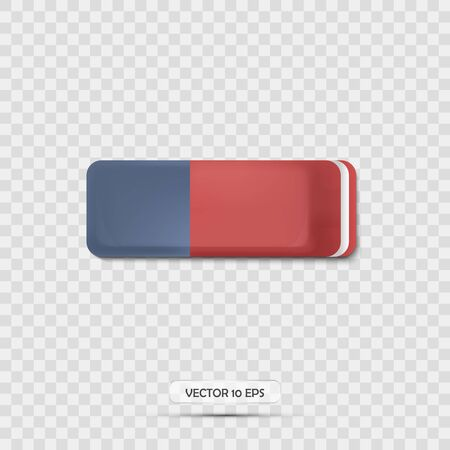 Eraser icon realistic. 3d icon. Vector illustration.