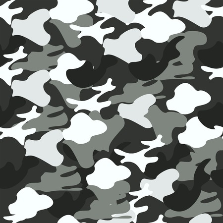 Camouflage texture. Seamless pattern.Vector illustration Military wallpaper