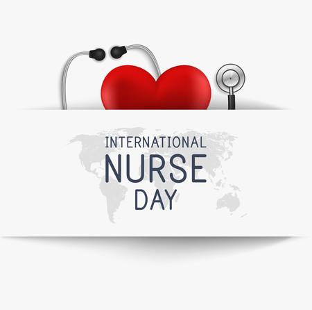 国际护士日。医学背景。向量
