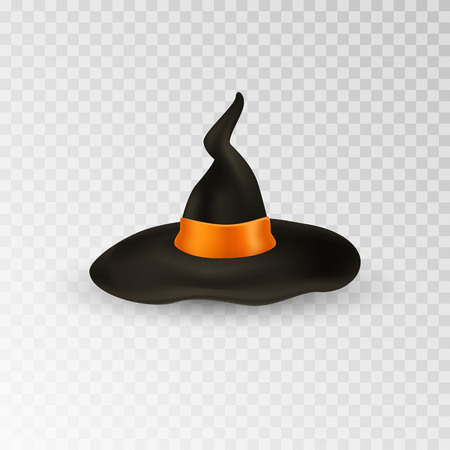 Witch hat. Halloween cup. Isolated on white. Vector illustration