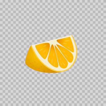 Orange icon. Vector illustration. Isolated on the background