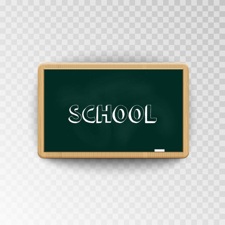 Back to School. Blackboard isolated on transparent background. Vector illustration