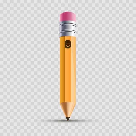 Pencil. Realistic 3d pencil icon. Vector illustration