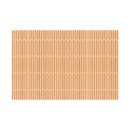 Bamboo mat. Isolated on white. Vector illustration  イラスト・ベクター素材