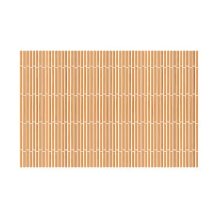 Estera de bambú. Aislado en blanco. Ilustración vectorial Ilustración de vector