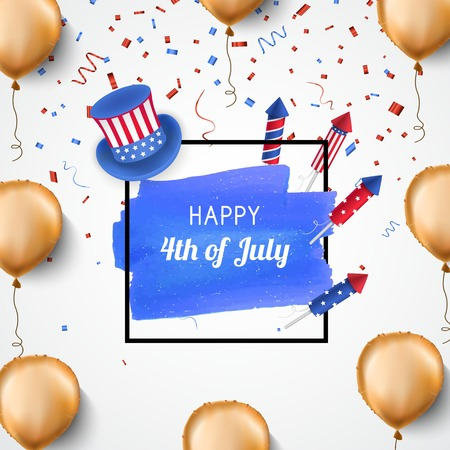 4th of July holiday banner. USA Independence Day banner for sale, discount, advertisement. 일러스트