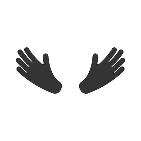 Hands icon. Isolated on white. Vector illustration