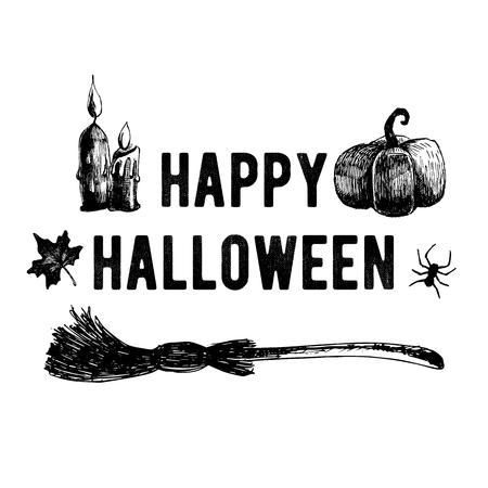 Halloween. Hand drawn icons. 스톡 콘텐츠