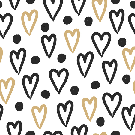 Love. Hearts seamless pattern. Valentines day background. 스톡 콘텐츠 - 115844401