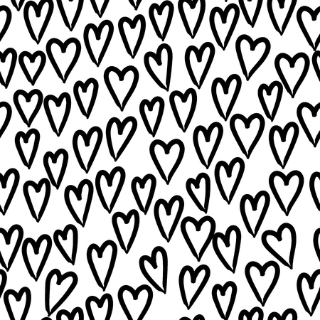 Love. Hearts seamless pattern. Valentines day background. 스톡 콘텐츠 - 115844405