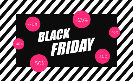 Black Friday sale banner. Shopping background. Sale tag. Vector illustration 스톡 콘텐츠 - 115844411