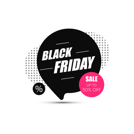 Black Friday sale banner. Shopping background. Sale tag. Vector illustration 스톡 콘텐츠 - 115844417