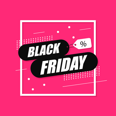 Black Friday sale banner. Shopping background. Sale tag. Vector illustration