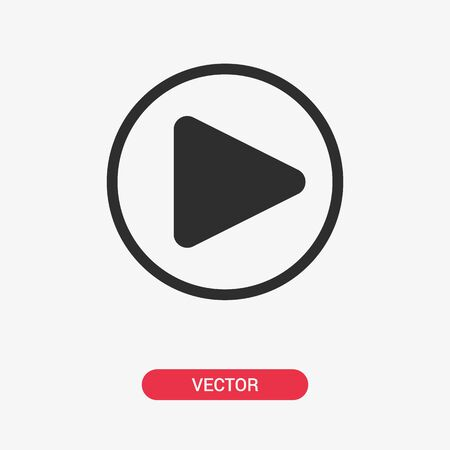 Play button isolated. Play icon. Vector illustration
