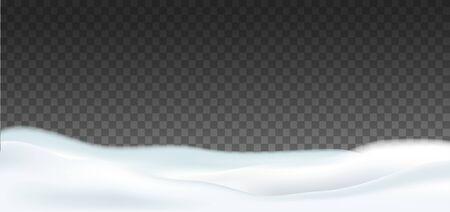 Snow cap. Snow landscape. Winter Vector illustration