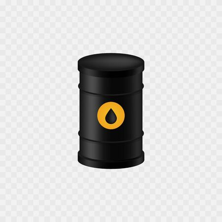 Oil barrel. Isolated on white. Oil icon. Vector illustration