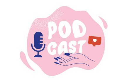 Podcast Cover art design. Creative podcast background. Vector
