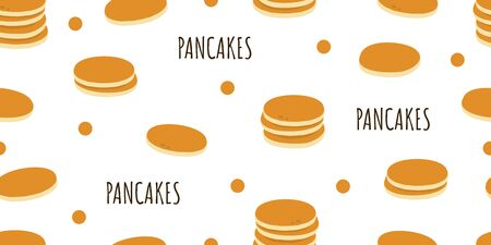 Pancakes. Seamless pattern. Food background Vector illustration Stock Illustratie