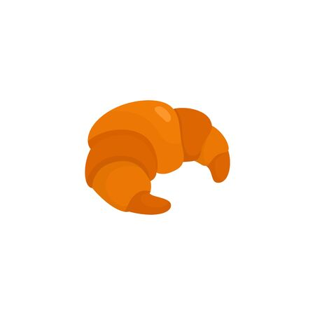 Croissant icon. Isolated on white. Vector illustration