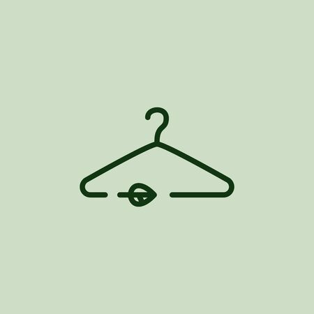 Sustainable fashion  . Hanger. Eco friendly Vector illustration