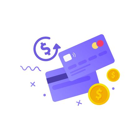 Credit card simple icon. Money. Vector illustration Stock Illustratie
