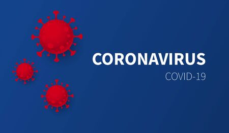 Coronavirus Covid-19. Dark Blue background. Web banner. Vector illustration