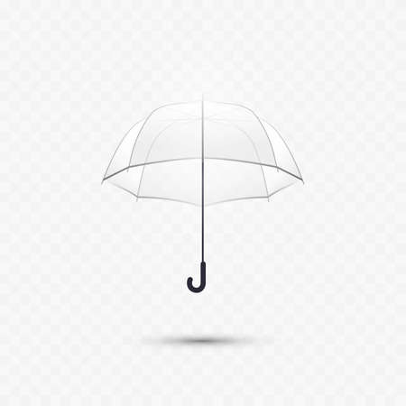 Transparent umbrella. Realistic transparent illustration. Vector icon
