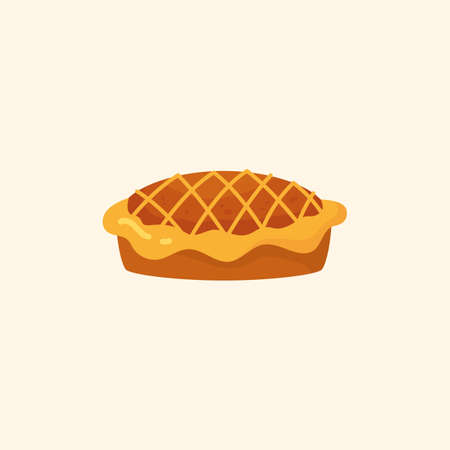 Apple pie icon. Homemade Cake. Isolated. Vector