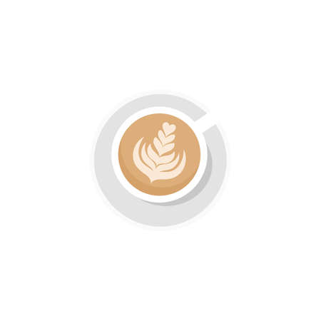 Coffee cup. Cappuccino. Flat style. Isolated. Vector Stock Illustratie