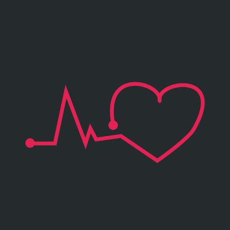 pulsating: The pulsating heart Illustration