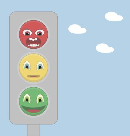 banning the symbol: Traffic light of emoticons