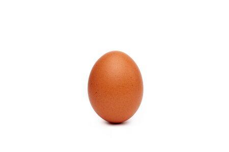 hens egg isolated on white background