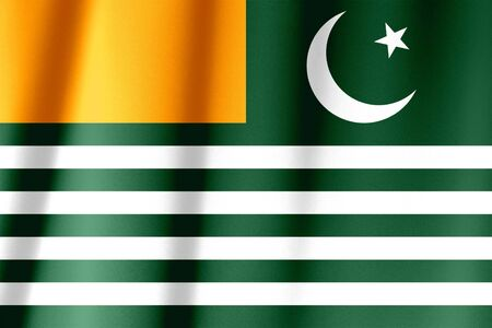 Ruffled waving Azad Kashmir flag