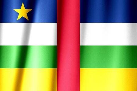 Central African Republic waving flag Archivio Fotografico